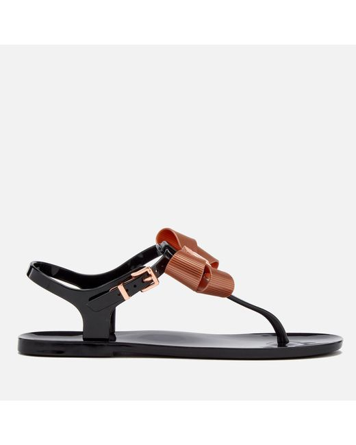 Ted Baker - Black Camaril Toe Post Sandals - Lyst