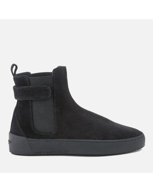 android homme men 39 s sunset suede chelsea boots in black for men lyst. Black Bedroom Furniture Sets. Home Design Ideas