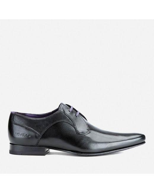 Ted Baker - Black Men's Martt2 Leather Derby Shoes for Men - Lyst