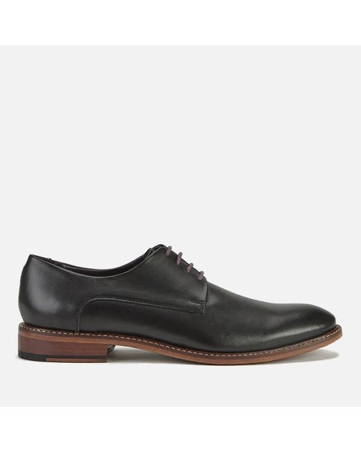 563f15b89ddacd Ted Baker Men s Irron 3 Leather Derby Shoes in Black for Men - Save ...