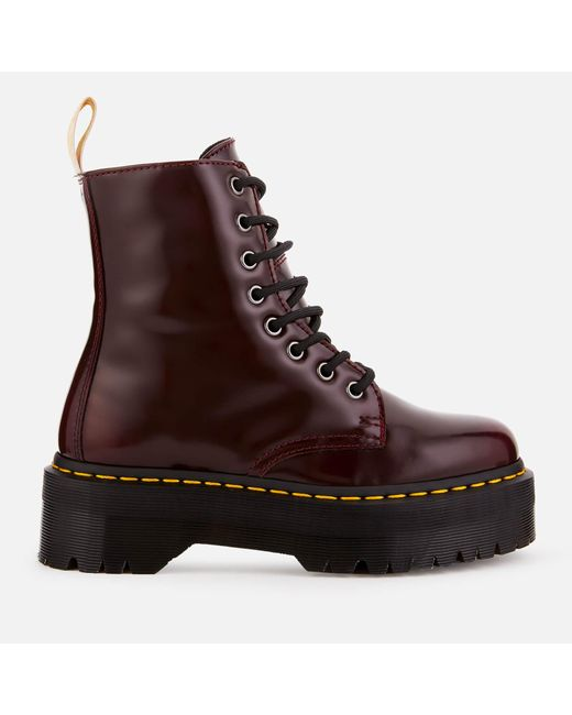 41c38ba9943e Dr. Martens - Red Jadon Ii Vegan 8-eye Boots - Lyst ...