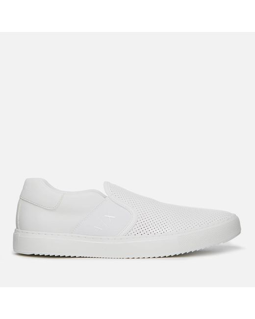Armani Exchange - White Slip-on Trainers for Men - Lyst