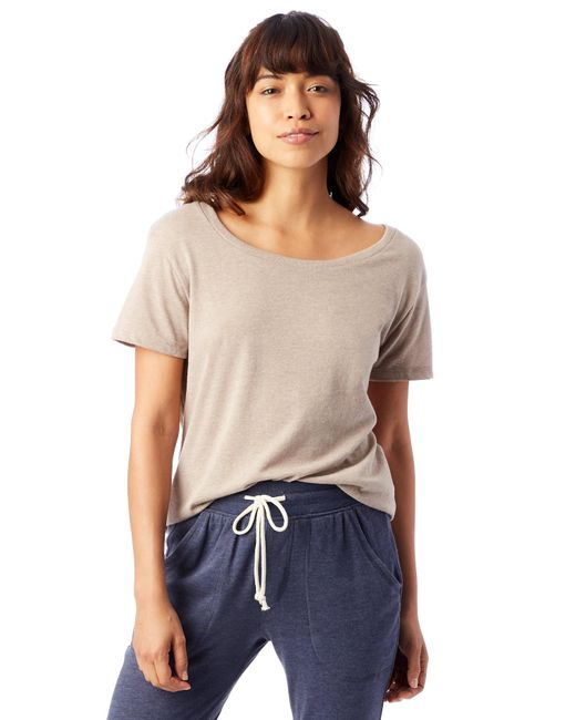 Alternative Apparel - Natural Backstage Vintage Jersey T-shirt - Lyst