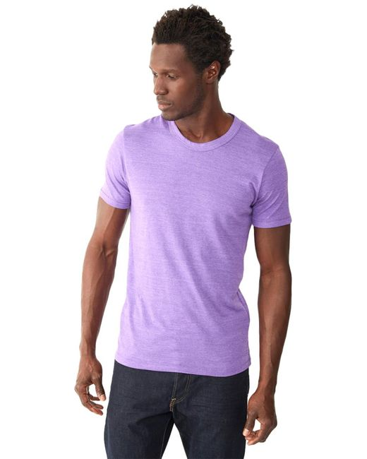 Alternative Apparel | Purple Eco-jersey Crew T-shirt for Men | Lyst