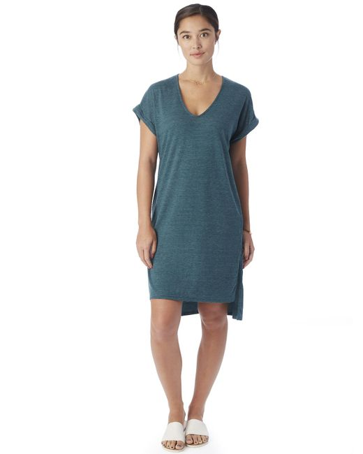 Alternative Apparel | Blue Escapade Eco-jersey Yarn Dye Stripe Dress | Lyst