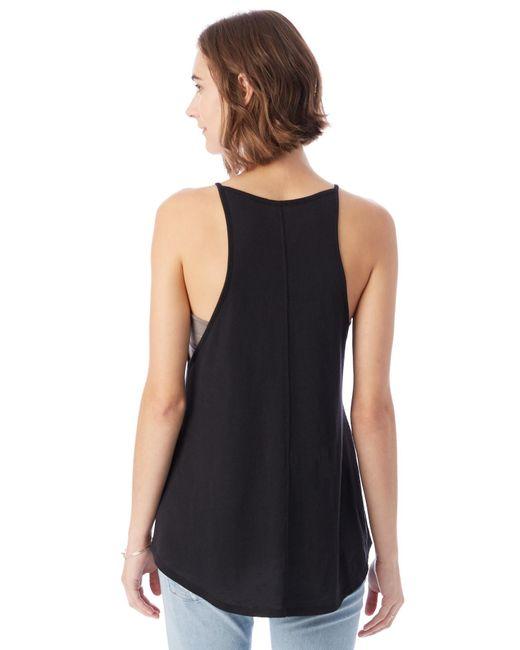 alternative apparel vip vintage jersey tank top in black