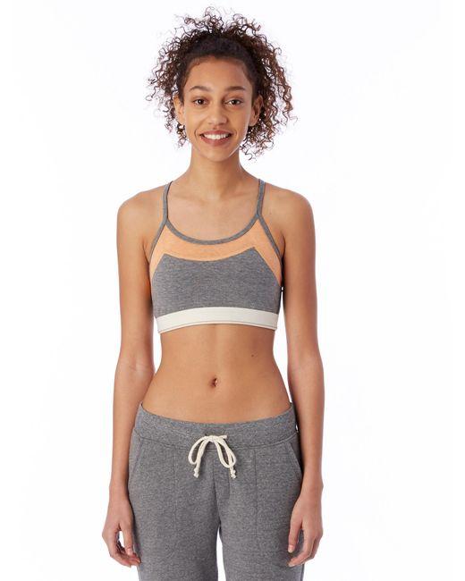 Alternative Apparel   Gray Stretch It Out Eco-lycra Jersey Bra   Lyst