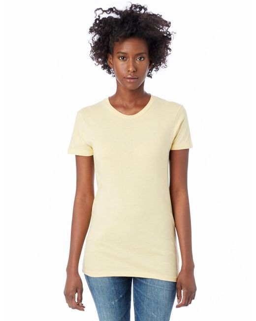 Alternative Apparel - Yellow Basic Womens Crew T-shirt - Lyst
