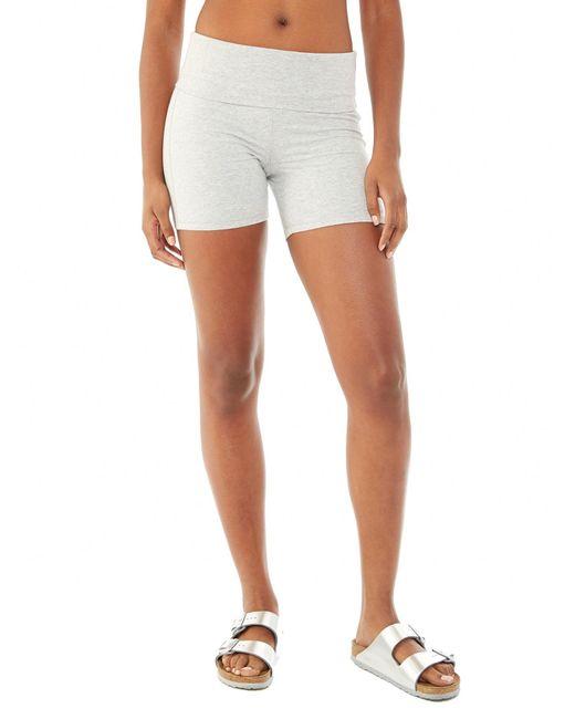 Alternative Apparel | Gray Pull Up Spandex Jersey Shorts | Lyst