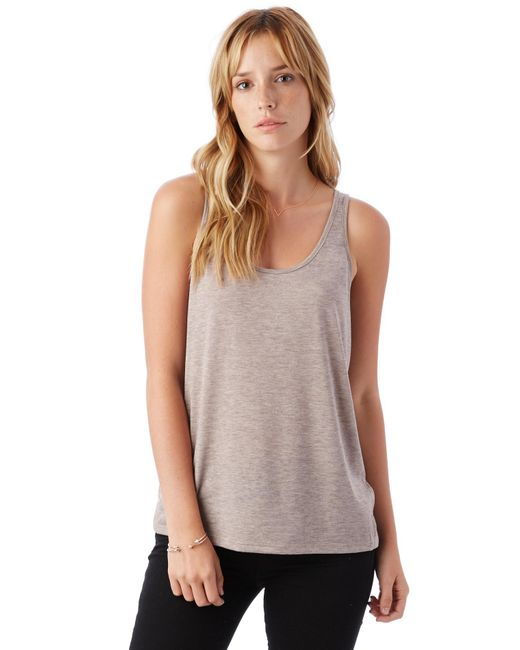 Alternative Apparel | Natural Airy Melange Burnout Tank Top | Lyst