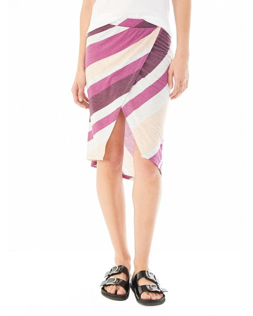 Alternative Apparel | Purple Melange Jersey Wrap Skirt | Lyst