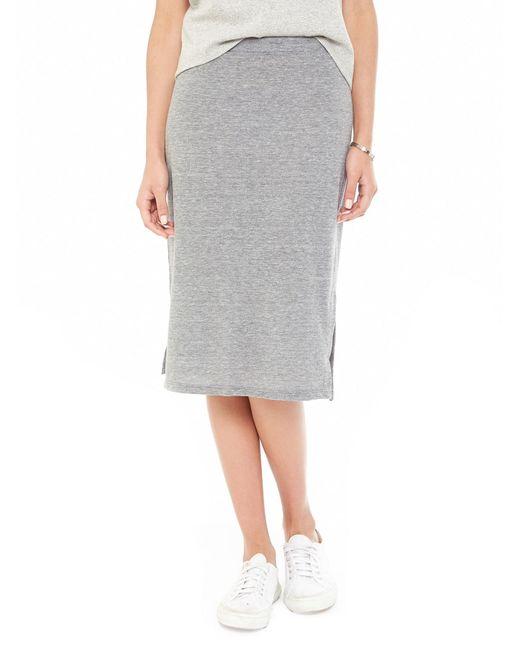 Alternative Apparel | Gray Triple Dare Eco-jersey Skirt | Lyst