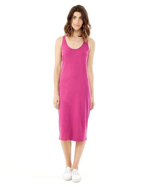 Alternative Apparel | Purple Cotton Modal Racerback Midi Dress | Lyst