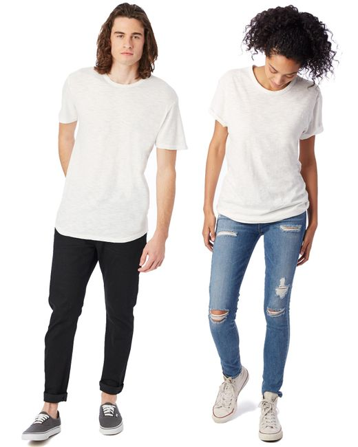 Alternative Apparel - White Postgame Washed Slub Crew T-shirt for Men - Lyst