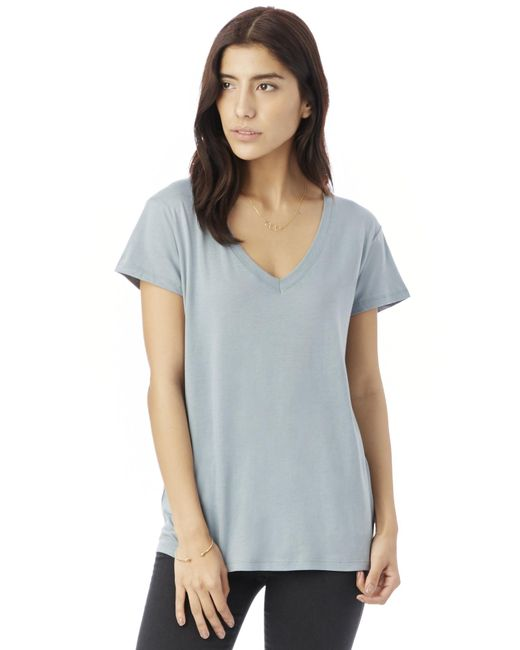 Alternative Apparel - Blue Everyday Cotton Modal V-neck T-shirt - Lyst
