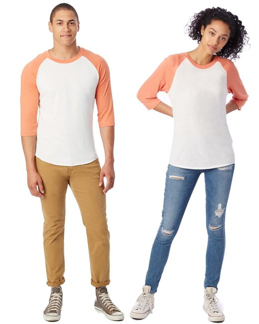 Alternative Apparel - Orange Baseball Eco-jersey T-shirt for Men - Lyst