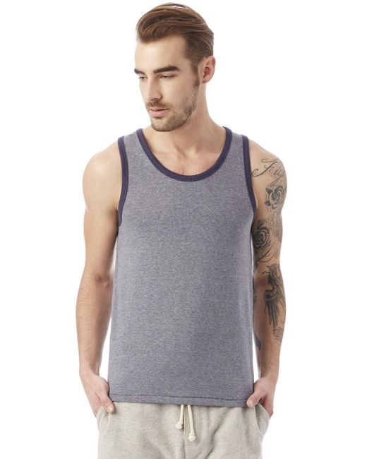 Alternative Apparel - Blue Vintage 50/50 Jersey The Keeper Tank for Men - Lyst