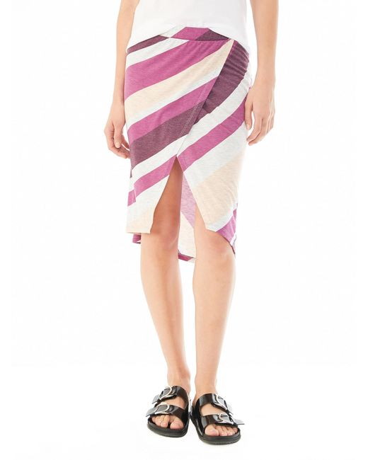 Alternative Apparel - Purple Melange Jersey Wrap Skirt - Lyst