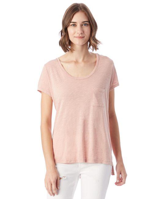 Alternative Apparel - Pink Favorite Washed Slub T-shirt - Lyst
