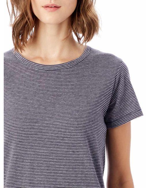 Alternative Apparel - Blue Ideal Striped Eco-jersey T-shirt - Lyst