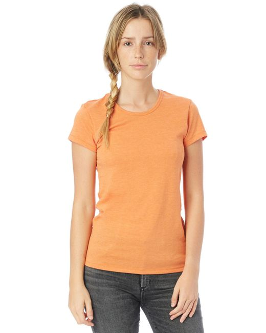 Alternative Apparel - Orange Keepsake Vintage Jersey T-shirt - Lyst