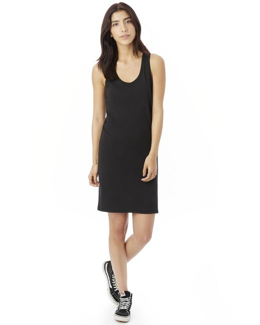 Alternative Apparel | Black Effortless Cotton Modal Tank Dress | Lyst