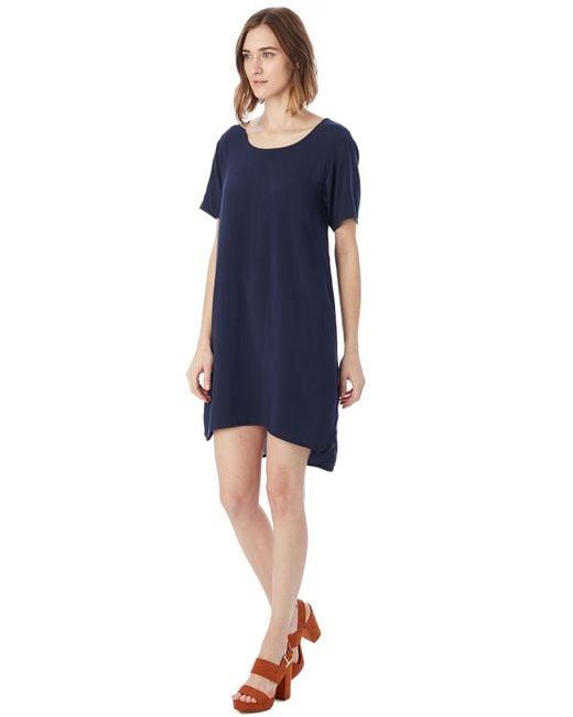 Alternative Apparel - Blue Rayon Challis Shift Dress - Lyst