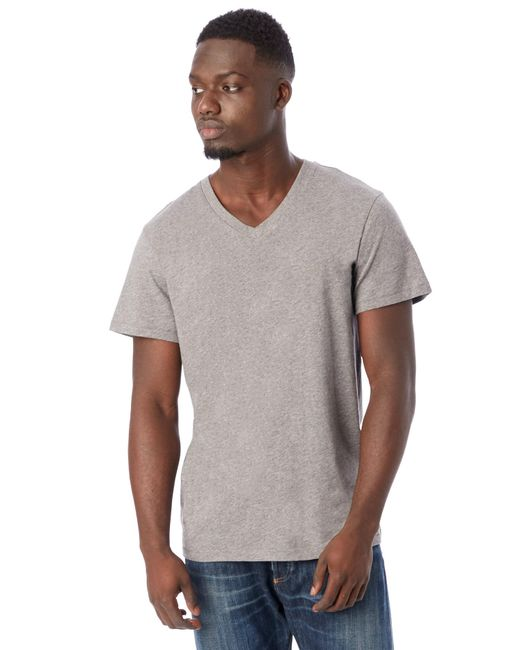 Alternative Apparel - Gray Perfect Organic Pima V-neck T-shirt for Men - Lyst