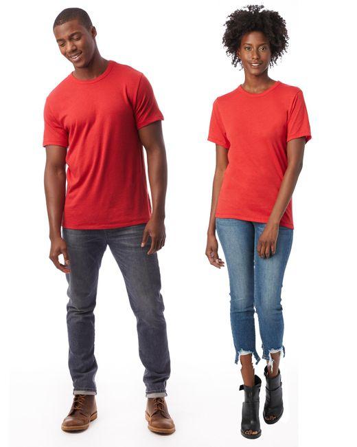 Alternative Apparel - Red Keeper Vintage Jersey Crew T-shirt for Men - Lyst