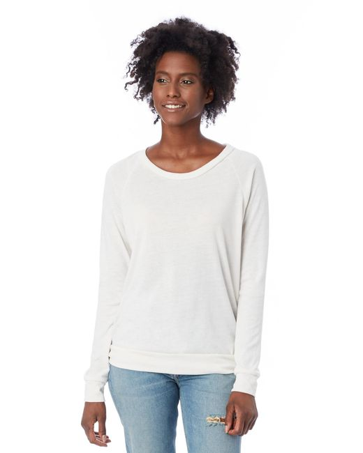Alternative Apparel - White Slouchy Eco-jersey Pullover - Lyst