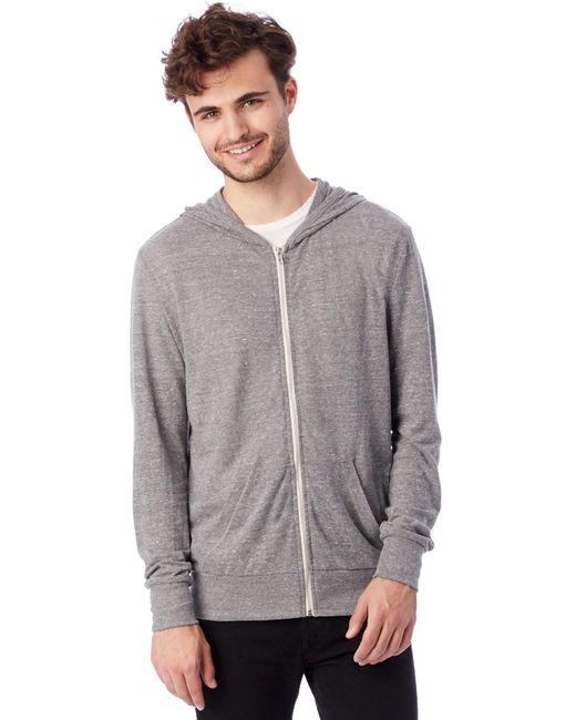 Alternative Apparel | Gray Basic Eco-jersey Zip Hoodie for Men | Lyst