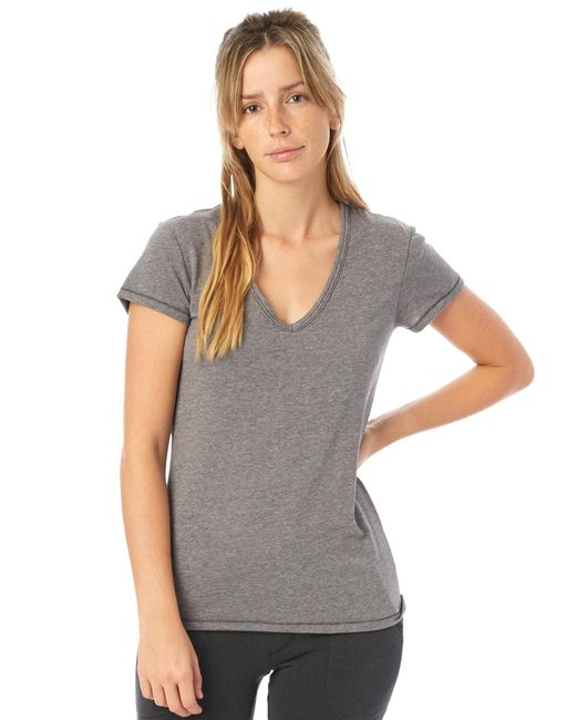 Alternative Apparel - Multicolor Keepsake Vintage Jersey V-neck T-shirt - Lyst