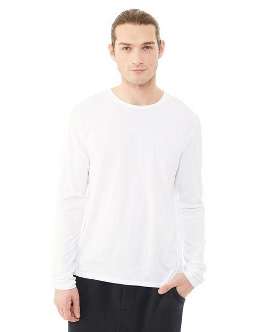 Alternative Apparel | White Heritage Garment Dyed Long Sleeve T-shirt for Men | Lyst