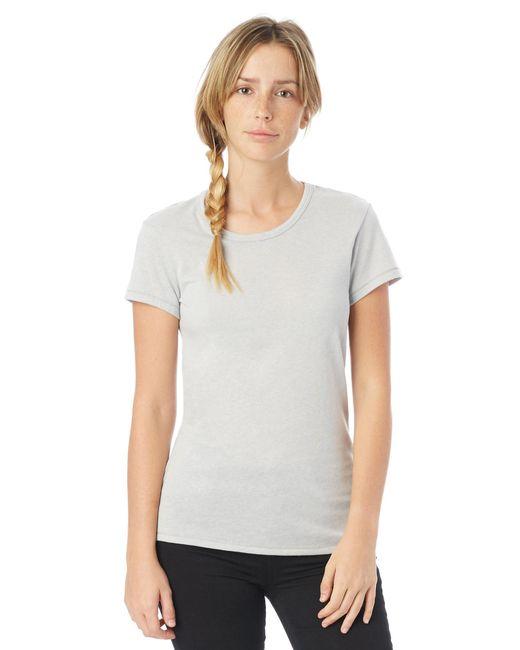 Alternative Apparel - Metallic Keepsake Vintage Jersey T-shirt - Lyst