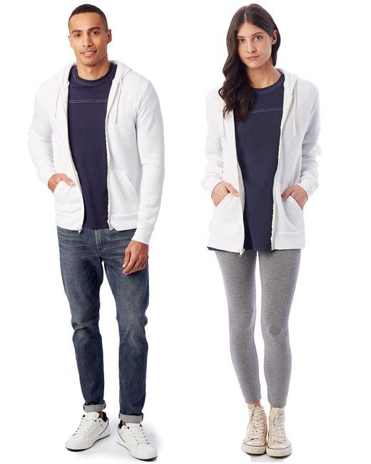Alternative Apparel - White Rocky Eco-fleece Zip Hoodie - Lyst