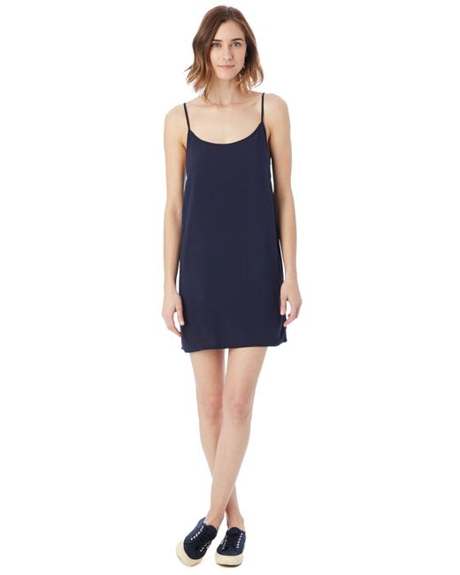 Alternative Apparel   Blue Rayon Challis Slip Dress   Lyst