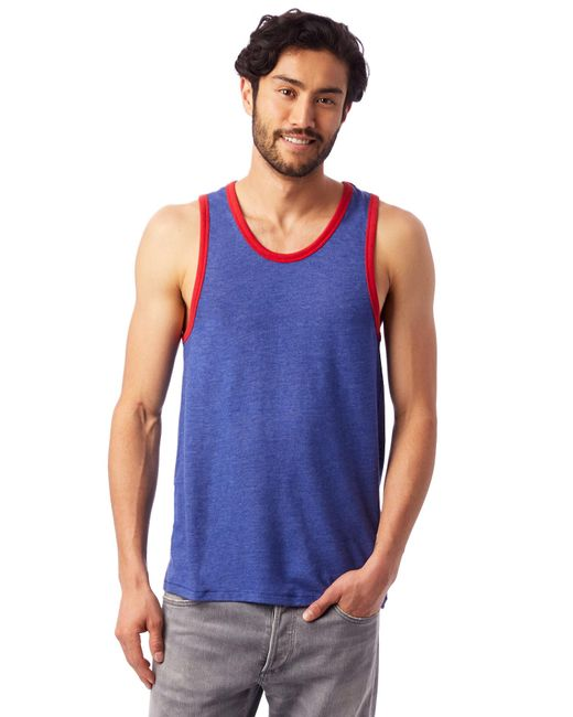 Alternative Apparel - Blue Keeper Vintage Jersey Ringer Tank Top for Men - Lyst