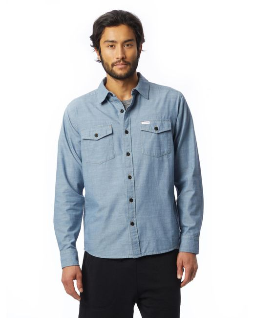 Alternative Apparel - Blue Topo Designs Chambray Shirt for Men - Lyst