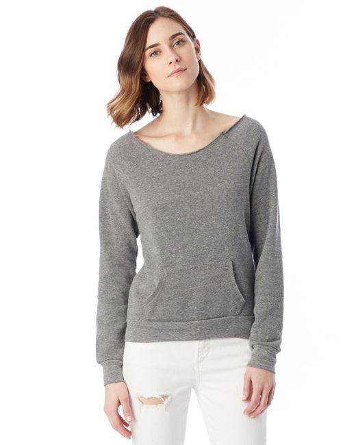 Alternative Apparel - Gray Maniac Eco-fleece Sweatshirt - Lyst