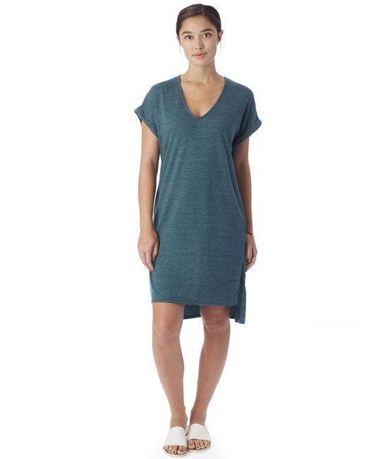 Alternative Apparel   Blue Escapade Eco-jersey Yarn Dye Stripe Dress   Lyst