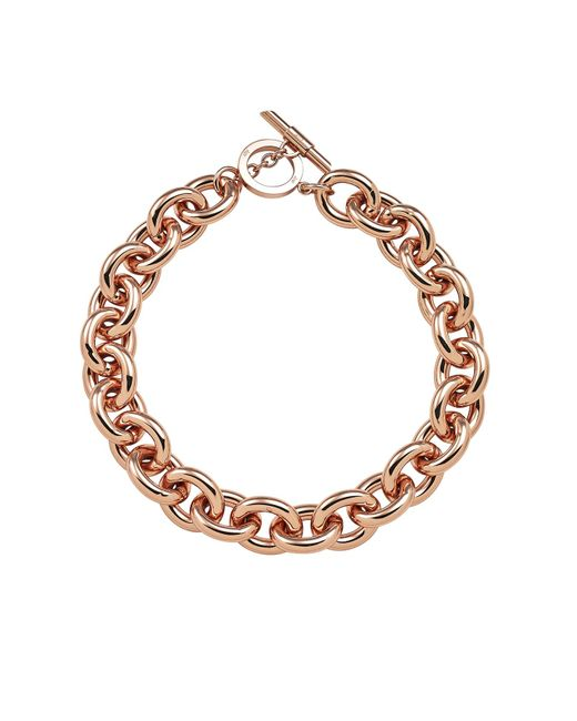Amanda Wakeley - Metallic Chunky Rose Gold Necklace - Lyst