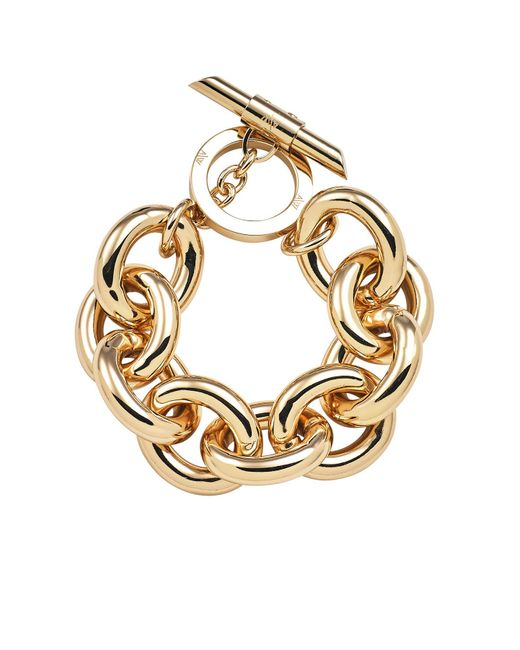 Amanda Wakeley | Metallic Chunky Gold Bracelet | Lyst