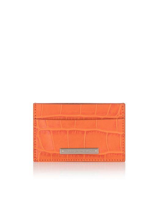 Amanda Wakeley - Marrakech Orange Leather Norton Cardholder - Lyst