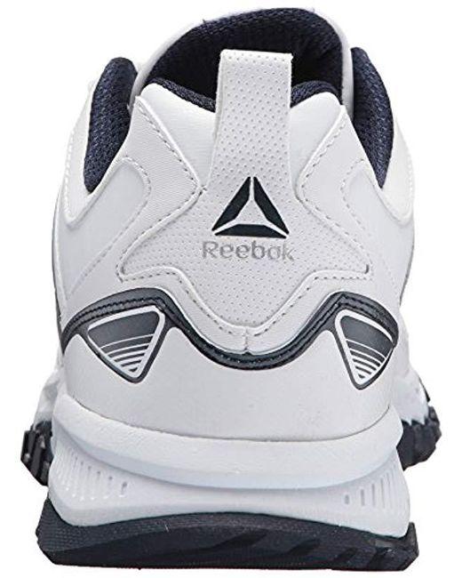 93629254410e Lyst - Reebok Ridgerider Leather Sneaker in White for Men - Save 43%