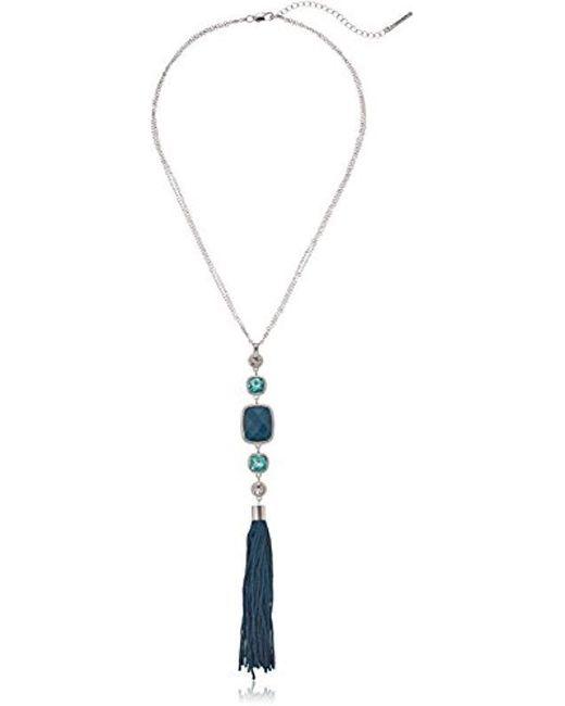 "T Tahari - Metallic ""roman Holiday Bright Tassel Y-shaped Necklace, 20"" + 3"" Extender - Lyst"