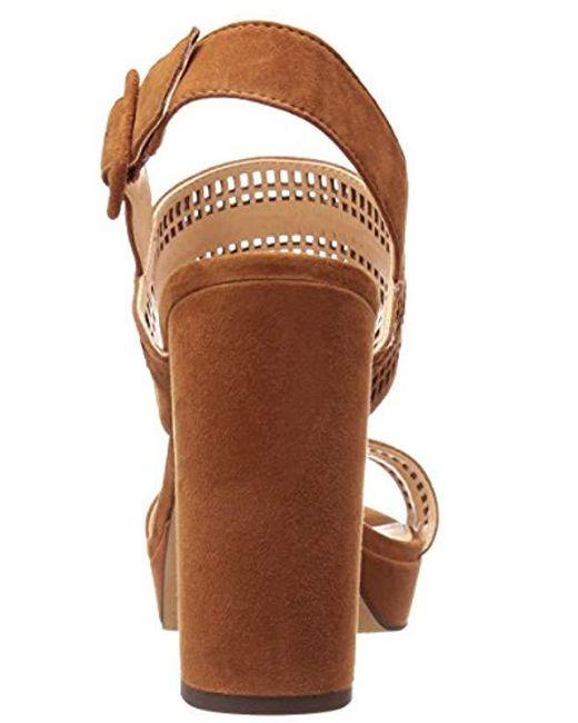 55e9e4411de Lyst - Vince Camuto Jazelle Platform Dress Sandal in Brown - Save 20%
