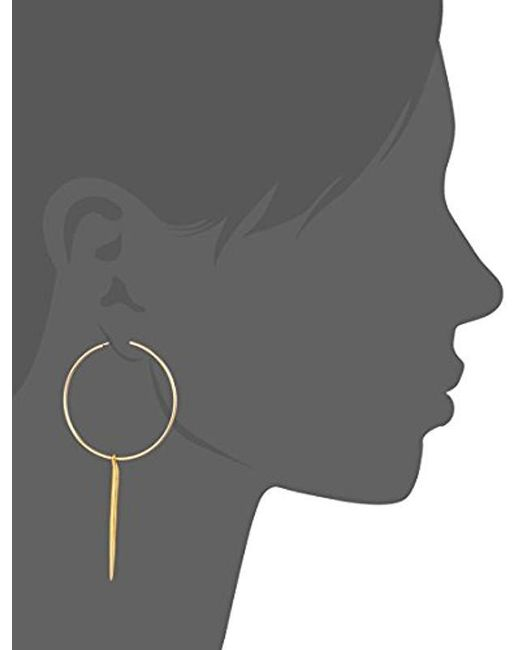 Dogeared - Metallic Karma, Medium And Spear Hoop Earrings - Lyst