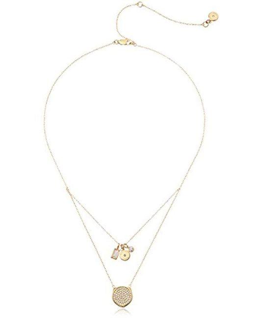 Michael Kors - Metallic Beyond Brilliant -tone Pendant Necklace - Lyst