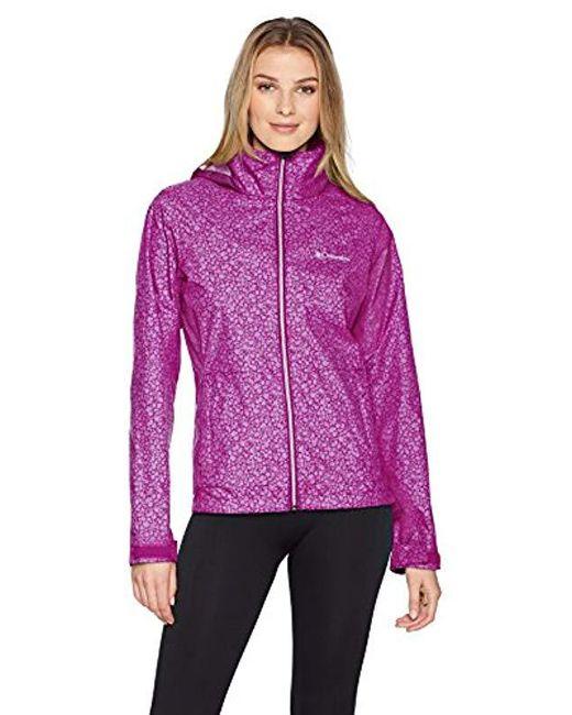 b57e34667ee Columbia - Purple Switchback Iii Plus Size Printed Jacket - Lyst ...