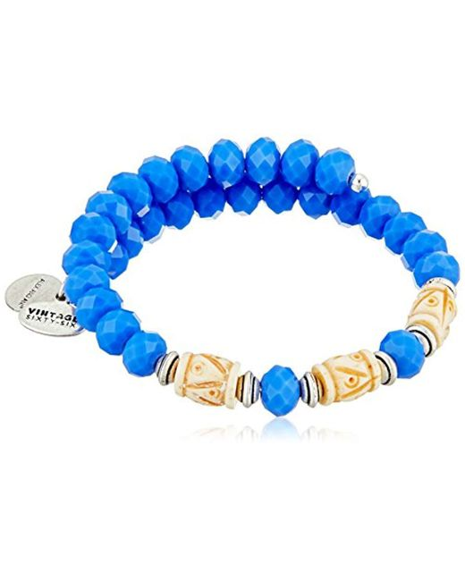 ALEX AND ANI - Blue S Deep Sea Wrap Bracelet - Lyst